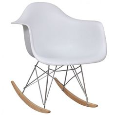 #MidCentury Modern #Rocking #Chair Retro Style White Home Decor Room Furniture  #ShoppingOnlineDeals #DanAnnStore #Buyablepins #Modern