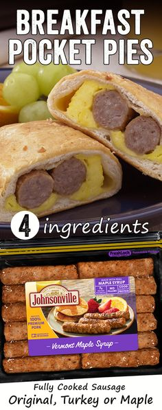 Back-to-school breakfast ideas that are quick, easy and full of flavor thanks to Johnsonville fully cooked breakfast sausage and patties! Sausage Breakfast, Breakfast Dishes, Breakfast Recipes, Snack Recipes, Cooking Recipes, Snacks, Sausage Recipes, Back To School Breakfast, Breakfast For Kids