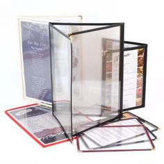 Framed Plastic Menu Holders - The Smart Marketing Group - Hospitality. Chinese Restaurant menu presentation. Chinese Cuisine themed menu presentation products for hospitality.