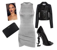 """""""лок"""" by lesya-dodukh on Polyvore featuring WearAll, IRO, Yves Saint Laurent and Henri Bendel"""