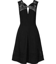 Clark Black Cutout Detail Dress - REISS