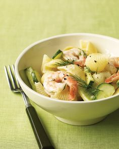 Shrimp Pasta Salad with Cucumber and Dill... one of my favorite pasta salad recipes