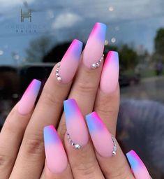 40 Pretty Multicolored Nail Art Designs For Spring and Summer 2019 rainbow nails colorful nail art design French manicure Multicolored Nail Art Designs Stylish Nails, Trendy Nails, Cute Nails, My Nails, Pink Nails, Heart Nails, Pastel Nails, Multicolored Nails, Colorful Nail Art