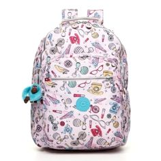 Seoul Large Backpack with Laptop Protection - Kipling #Print