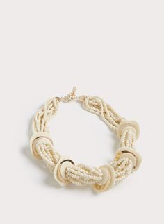 Naszyjnik z elementów z imitacji kości słoniowej - Zobacz wszystko - Biżuteria - Uterqüe Poland