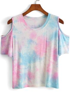 Open Shoulder Tie-dye T-shirt 7.90, this would be such a cute diy
