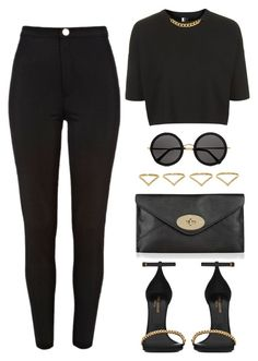 """""""Untitled #971"""" by susannem ❤ liked on Polyvore featuring moda, Topshop, Mulberry, River Island, Yves Saint Laurent, The Row y Ana Khouri"""