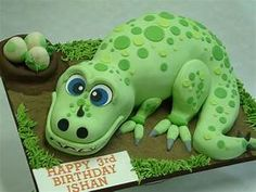 3D Dinosaur Cake - Celebration Cakes - Cakeology