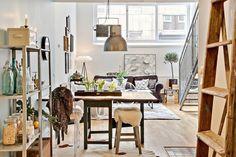 Jurnal de design interior - Amenajări interioare : Loft de 70 m² în Suedia