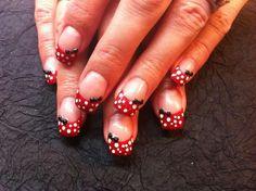 Mini mouse gel nails