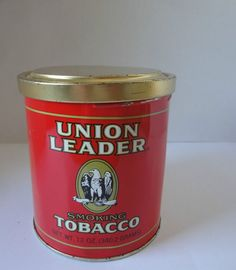 Union Leader Smoking Tobacco Tin United States Tobacco Co. Richmond Virginia