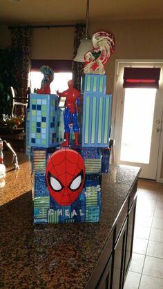 Back of spider man fiesta float