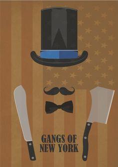 Gangs of New York (2002) ~ Minimal Movie Poster by David Peacock #amusementphile