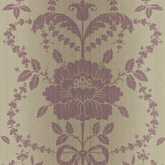 Zoffany - Luxury Fabric and Wallpaper Design | Products | British/UK Fabric and Wallpapers | Pot Pourri Damask (ZSDA03005) | Strie Damask Wallpapers