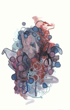 Untitled - Acrylics, Gouache  Original Painting - Chris Cromwell 2013  #Art #Painting #Design #ChrisCromwell #Abstract #Creativity #Artnerd