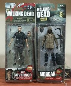 AMC Walking Dead Action Figure 2 Pack - The Governor & Morgan #McFarlaneToys