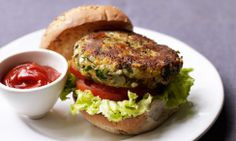 Chickpea, Cheese and Onion Burgers recipe.
