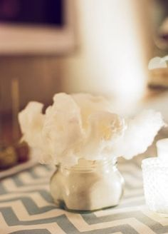 cotton candy on each table...
