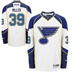 NHL St Louis Blues 39 Ryan Miller Mens Premier Jersey White color Size S -- 121a32361