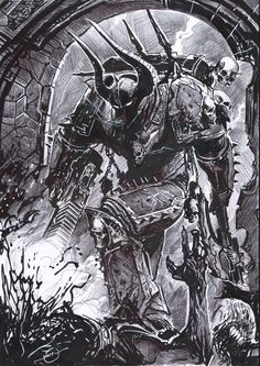 comission warhammer chaos marine by nebezial.deviantart.com on @deviantART