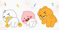 Apeach Kakao, Neon Room, Kakao Friends, Friends Gif, Cute Little Drawings, Gifs, Line Sticker, Emoticon, Pixel Art