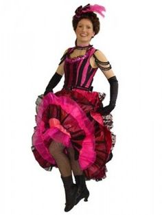"patterns for saloon dresses | The ""saloon girl""and can-can dancer are always popular costume ..."