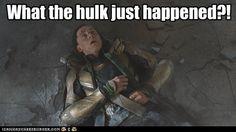 Hulk. Avengers. Yes.