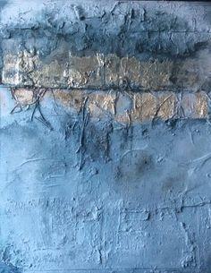 gold/blau 100x120x4 Sonja Bittlinger