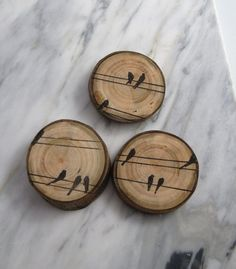 Magnet Wood Magnet Bird Wood Magnet Rustic Magnet by texturemix, $9.00