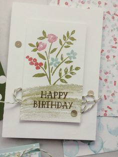 Number of Years, Birthday, Flowers, Stampin Up, New 2016