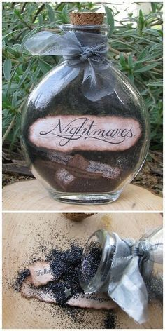 Pin for Later: handmade halloween decorations. Nightmare Dust…so clever Easy D… Pin for Later: handmade halloween decorations. Nightmare Dust…so clever Easy DIY project to add to my witches potions & spells hutch. Diy Halloween Costumes For Women, Diy Halloween Decorations, Fall Halloween, Halloween Crafts, Happy Halloween, Halloween Cosplay, Samhain Decorations, Halloween Halloween, Hollween Decorations