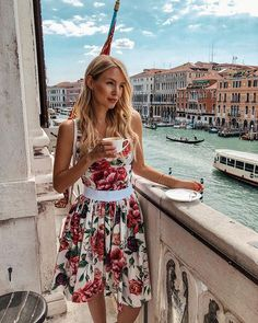 Leonie Hanne wearing Floral Bustier Top by Dolce & Gabbana Ohh Couture, Leonie Hanne, Workout Tops For Women, Coffee Girl, Womens Workout Outfits, Party Fashion, Lingerie, Marie, Summer Outfits