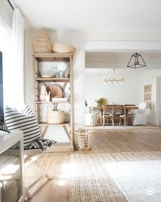 Neutral farmhouse styling