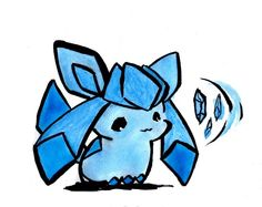 AWW WOOK AT THE WIDDLE GWACEON DAAAWWW :3 #Pokemon #Glaceon