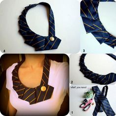 tie collar idea from internet DIY