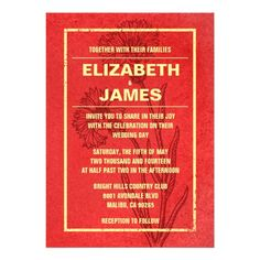 This DealsRustic Vintage Red And Gold Wedding Invitations AnnouncementYes I can say you are on right site we just collected best shopping store that have