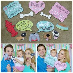 Puppy Party, Puppy Photo Booth Props https://www.etsy.com/listing/240178685/puppy-photo-booth-props-digital