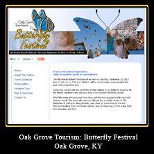 My Web Design Clients: Oak Grove Butterfly Festival. Oak Grove, Kentucky. http://www.oakgrovebutterflyfest.com/