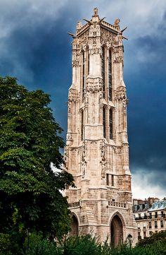 ღღ Saint-Jacques Tower, Paris, France and just around the corner from the Chatelet!
