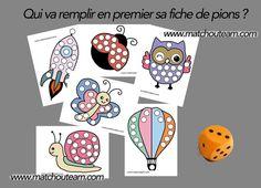 Jeu sur le dénombrement       Des fiches à imprimer pour jouer et apprendre en même temps ....!!!