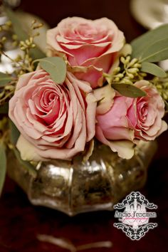 Pink roses for your tablescapes www.TheAthensWeddingPhotographer.com Wild Flower Event Services Thompson House and Gardens