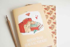 Go With All Your Heart Mustard Cover Travel Book by NutsforPaper
