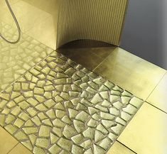Beautiful Arrangement Of Broken Glass Motive For Your Bathroom Flooring Design And Decorating Ideas