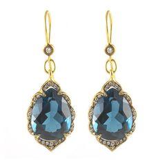 London Blue Topaz Arabesque Earrings – Pied Nu