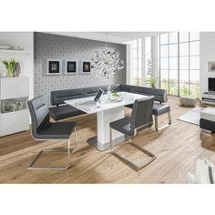 Eckbank im grauen Lederlook - stilvolles Wohnen mit NOVEL