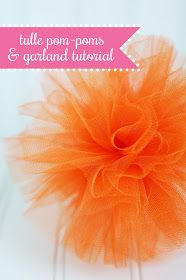 all things simple: tulle pom-poms + garland tutorial