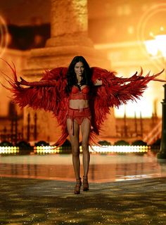 Victoria's Secret Runway Fashion Show 2013 Feathers and Glitter Galore - The Feather Girl