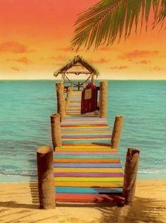 Amazing Colorful Beach