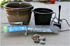 cómo hacer una fuente para el patio jardín, como hago una fuente de agua, pasos para hacer una fuente de agua casera, explicacón para fabricar una fuente de agua casera