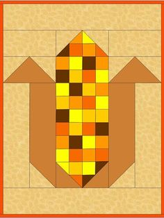 PDF Pattern – Calico Corn Table Runner and More - quilt patterns Quilt Square Patterns, Barn Quilt Patterns, Square Quilt, Pattern Blocks, Apron Patterns, Dress Patterns, Halloween Quilt Patterns, Halloween Quilts, Colchas Quilting